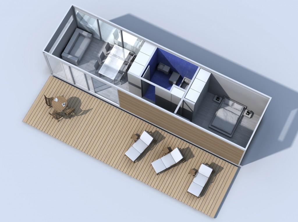 alojamientos módulos  kubes