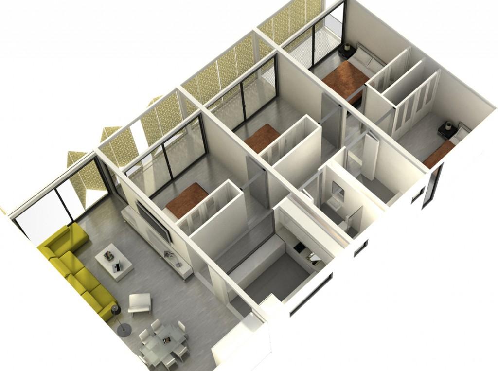 vivienda módulos  kubes